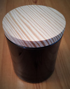 Black tumbler soy candles, fall scents by Twilight Candle Shop