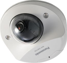 Panasonic iPRO WV-SW155 MEGA Super Dynamic HD Vandal-Resistant Compact Dome Network Camera w/ Multiple H.264 and JPEG Streams, ABS and VIQS