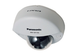 Panasonic iPRO WV-SF135 HD Compact Dome Network Camera w/ Multiple H.264 and JPEG Streams, ABS and VIQS