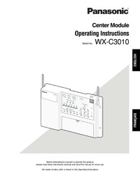 Attune WX-C3010 Operating Instructions for Center Module