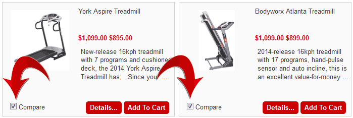 Compare Fitness Equipment on the One Page
