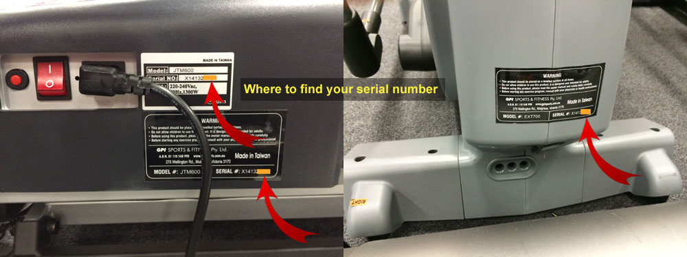 Fitness Equipment Serial Number Finder
