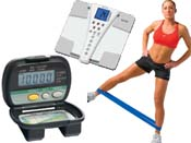 Pedometers Scales Resistance Bands