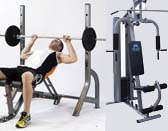 Weight benches and home gyms