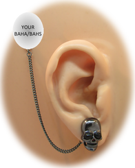 Black Skull Earring - Halloween Edition