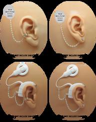 Swarovski Pearl & Silver Bead HearClip Chain