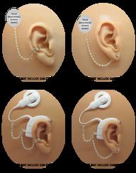 Swarovski Pearl & Sterling Silver Bead HearClip Chain