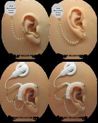 Swarovski Pearl & Gold Bead HearClip Chain