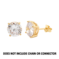CZ Stud Earring (5 mm) - Clear - 14K Gold-Filled