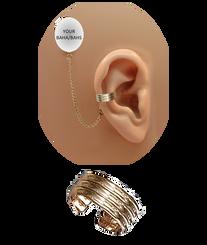 """""""3 Band"""" Ear Cuff - 12K Gold Fill"""