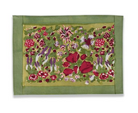 Jardine Red Green Placemats, Set of 6