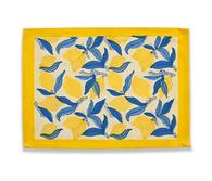 Lemon Blue Yellow Placemats, Set of 6