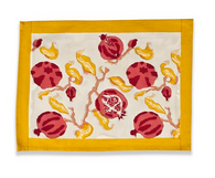 Pomegranate Yellow Placemats, Set of 6