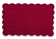 Quilted Sonia Burgundy Placemat Rectangular, Set of 6