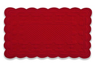 Quilted Sonia Red Rectangular Placemats, Set of 6