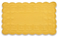 Quilted Sonia Yellow Rectangular Placemats, Set of 6