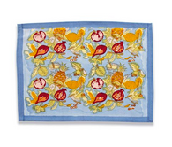 Tutti Frutti Blue Placemats, Set of 6