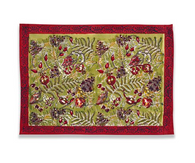 Winter Garden Red Green Placemats, Set of 6
