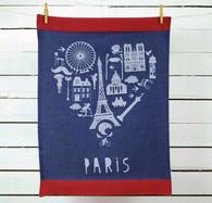 Paris Heart Kitchen Towel