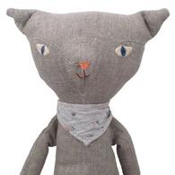 Cat Grey Bandana