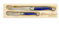 Laguiole French Cheese Knife Set, Navy
