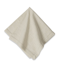 Cotton Hemstitch Napkin Ivory White, Set of 6