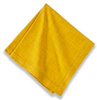 Cotton Hemstitch Napkin Dijon Yellow, Set of 6