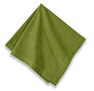 Cotton Hemstitch Napkin Forest Green, Set of 6
