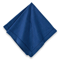 Cotton Hemstitch Napkin Navy Blue, Set of 6