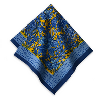 Bougainvillea Blue/Yellow Napkins, Set of 6