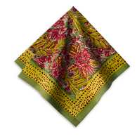Bougainvillea Green/Red Napkins, Set of 6