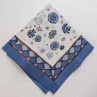 Fleur Sauvage Bleu Napkins, Set of 6