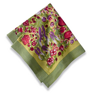 Jardin Green/Red Napkins, Set of 6