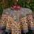 Goes with Pansy Grey Red Tablecloth