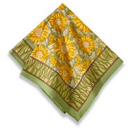 Sunflower Green Napkins, Set of 6