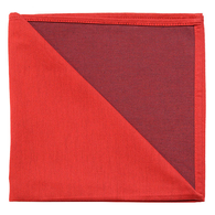 Bicolor Cotton Napkins Rouge/ Aubergine , Set of 6
