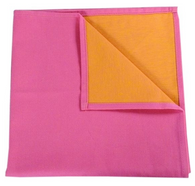 Bicolor Cotton Napkins Pink/Orange, Set of 6