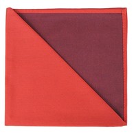 Bicolor Cotton Napkins Corail / Aubergine, Set of 6