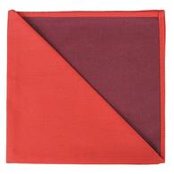 Bicolor Cotton Napkins Corail / Aubergine, Set of 6