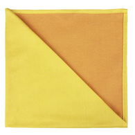 Bicolor Cotton Napkins Jaune / Apricot , Set of 6