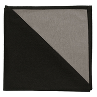 Bicolor Cotton Napkins Black/Etoupe, Set of 6