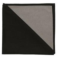 Bicolor Cotton Napkins Black/Etoupe, Set of 6