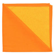 Bicolor Cotton Napkins Orange / Jaune , Set of 6