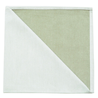 Bicolor Cotton Napkins Blanc/ Corne, Set of 6