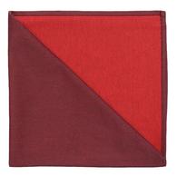 Bicolor Cotton Napkins Aubergine / Rouge , Set of 6