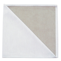 Bicolor Cotton Napkins Metis Blanc / Naturel  Set of 6