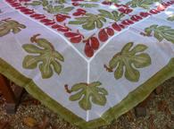 "Cotton Organza Fig Tablecloth Square Tablecloth 71 x 71"""
