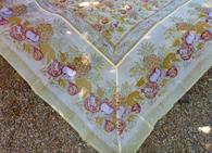 Tutti Frutti Yellow Cotton Organza Tablecloth