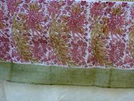 """Bougainvillea Red/White Organza Tablecloth 71 x 128"""""""