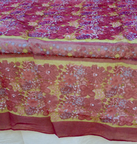 Candy Red Organza Tablecloth